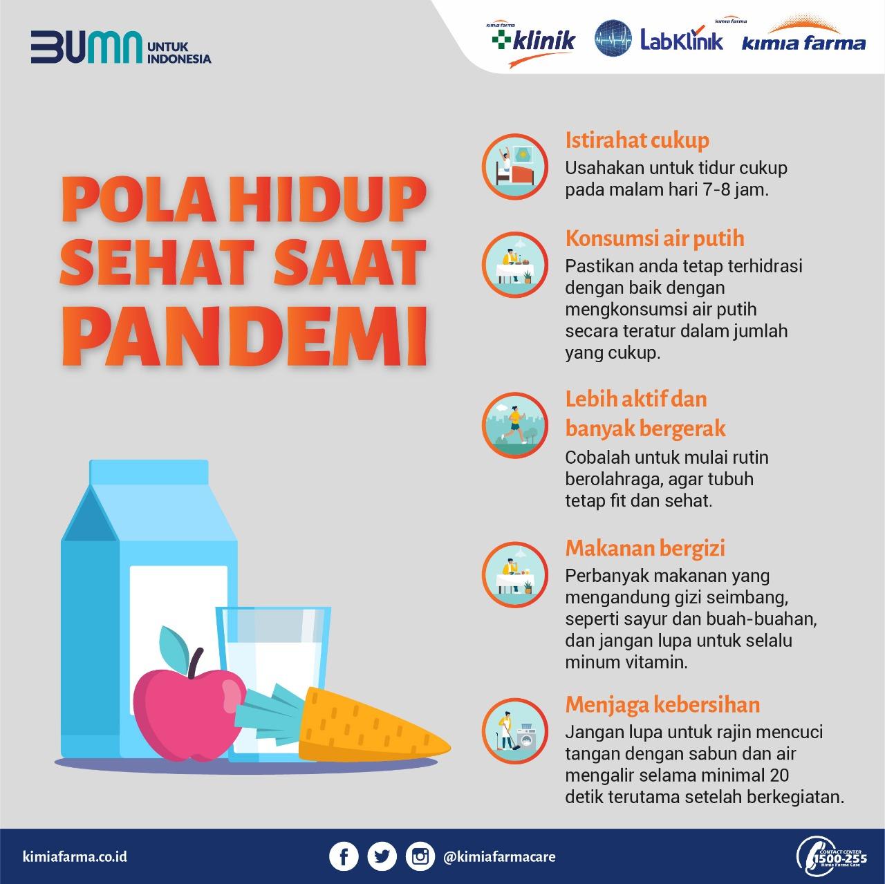 Pola hidup sehat saat pandemi